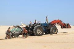 rybaków sieci Portugal kołysanie się Fotografia Stock