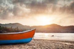 Rybak łódź Obrazy Royalty Free