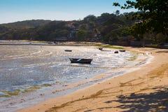 Rybak łódź w Buzios Zdjęcia Royalty Free