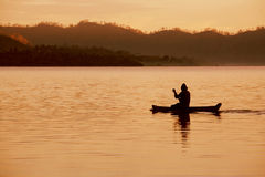 rybak 5 samotny Obrazy Royalty Free