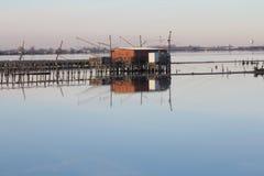 Rybak budy w lagunach Zdjęcia Stock