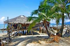 Rybak chałupy przy Mook wyspą obraz stock