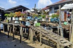 Rybak chałupy przy Mook wyspą Zdjęcie Stock