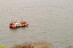Rybak łódź Obraz Royalty Free