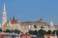 Rybak góruje i Matthias kościół Budapest Obrazy Royalty Free