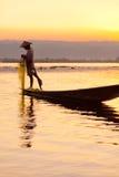 Rybak, Inle jezioro, Myanmar Fotografia Stock