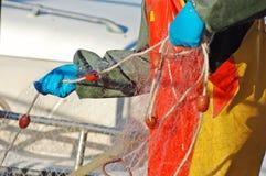 rybak kontrolować sieci Zdjęcia Royalty Free