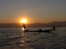 Rybak Myanmar Fotografia Royalty Free