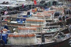 Rybak łodzie Obraz Royalty Free