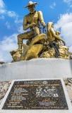 Rybak pamiątkowa statua na Isla Mujeres, Meksyk obraz royalty free