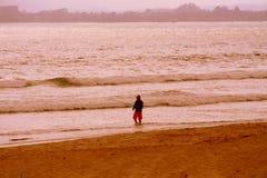 Rybak przy plażą Zdjęcia Royalty Free