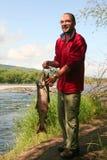 rybak ryb Obrazy Royalty Free