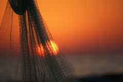 rybak s netto Zdjęcia Royalty Free
