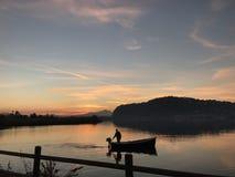 rybak samotny Zdjęcia Royalty Free