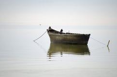 Rybak stara łódź Fotografia Royalty Free