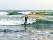 Rybak w morzu obrazy royalty free