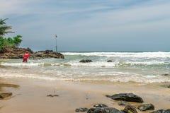 Rybak w naturze przy Itacarezinho plażą Obraz Stock