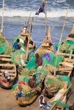 Rybak w przylądka kosztu plaży, Ghana Fotografia Royalty Free