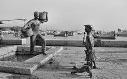 Rybak wioska Malta zdjęcia stock
