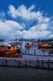 Rybak wioska przy Tanjung Api Zdjęcie Royalty Free