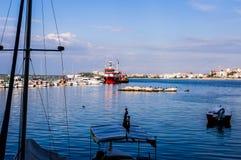 Rybak zatoka Yalova Turcja Fotografia Royalty Free