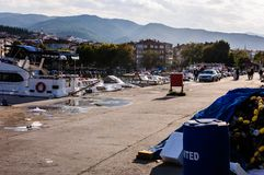 Rybak zatoka Yalova Turcja Obrazy Stock