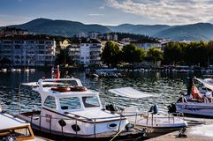 Rybak zatoka Yalova Turcja Obraz Royalty Free
