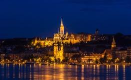 Rybaka bastion w Budapest podczas 2013 lat powodzi zdjęcia royalty free