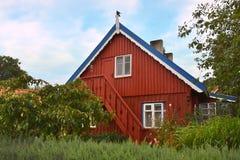 Rybaka dom w Nida, Lithuania zdjęcia royalty free