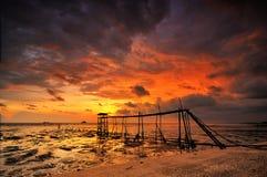 Rybaka jetty Zdjęcia Royalty Free