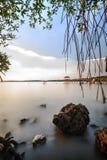 Rybaka Jetty przy Pasir Panjang, Negeri Sembilan Zdjęcia Royalty Free