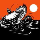 rybaka loch potwora ness ilustracja wektor