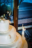 Rybaka ślubny tort Obraz Royalty Free