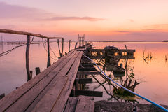 Rybaka most dla nieść ryba Obraz Stock