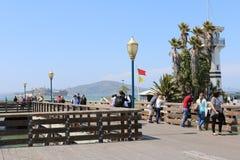 Rybaka nabrzeże jest sąsiedztwem popularnym atrakcją turystyczną w San Fransisco i, Kalifornia Zdjęcie Royalty Free