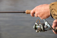 rybaka przędzalnictwo Obrazy Stock