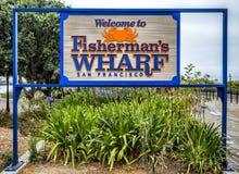 Rybaka ` s nabrzeża znak powitalny na Sierpniowy 17th, 2017 - San Fransisco, Kalifornia, CA Zdjęcie Stock
