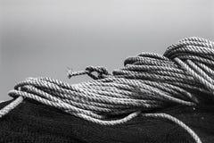 Rybaka ` s sprzęt czarny i biały Obrazy Stock