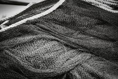 Rybaka ` s sprzętu tło czarny i biały Zdjęcie Stock