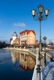 Rybaka ` s wioska w Kaliningrad zdjęcie royalty free