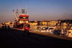 Rybaka schronienie Na Starym Marina Zdjęcie Royalty Free