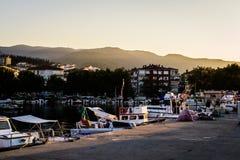 Rybaka schronienie Na Starym Marina Fotografia Royalty Free