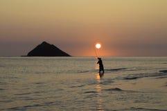 rybaka wschód słońca Obraz Stock