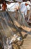 Rybalka op het Tonle-Sap stock afbeelding