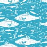 Rybi bezszwowy tło ilustracji