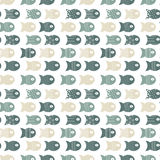 Rybi bezszwowy wzór dla tkanina tekstylnego projekta, poduszki, tapety, płótno, torby, scrapbook papier ilustracji