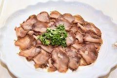 Rybi crudités na porci naczyniu z rybim carpaccio fotografia royalty free