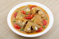 Rybi curry z koksem obrazy stock
