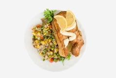 rybi czerwony ryżowy warzywo Obrazy Royalty Free