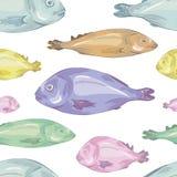 rybi deseniowy bezszwowy Obrazy Royalty Free